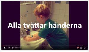 Alla tvättar händerna i ny musikvideo för förskolan