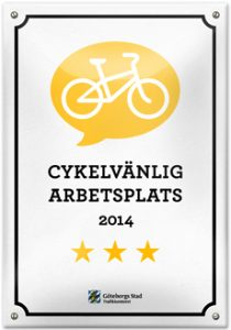 Gryaab är cykelvänligaste arbetsplatsen i Göteborg