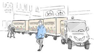 Pilotprojekt ska ge färre tunga transporter i city