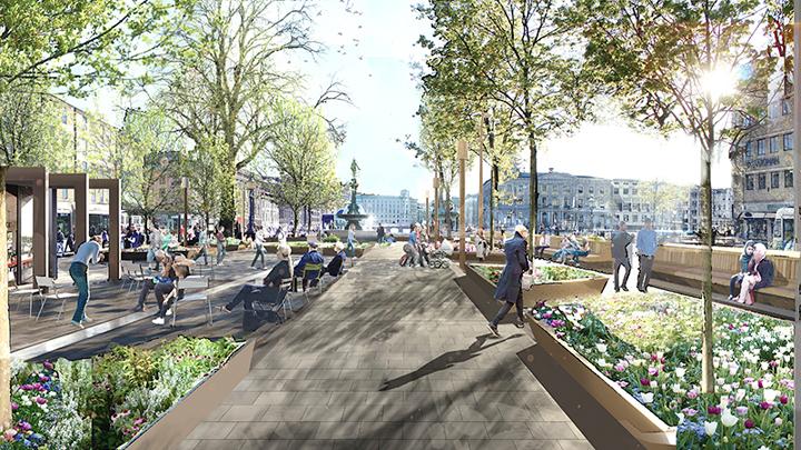 Upprustningen av Brunnsparken inleds med trädflytt i mars