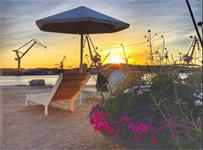 Playa Skeppsbron ett säkert sommartecken vid Stenpiren