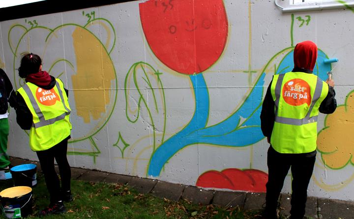 Muralmålningar sätter färg på nordöstra Göteborg