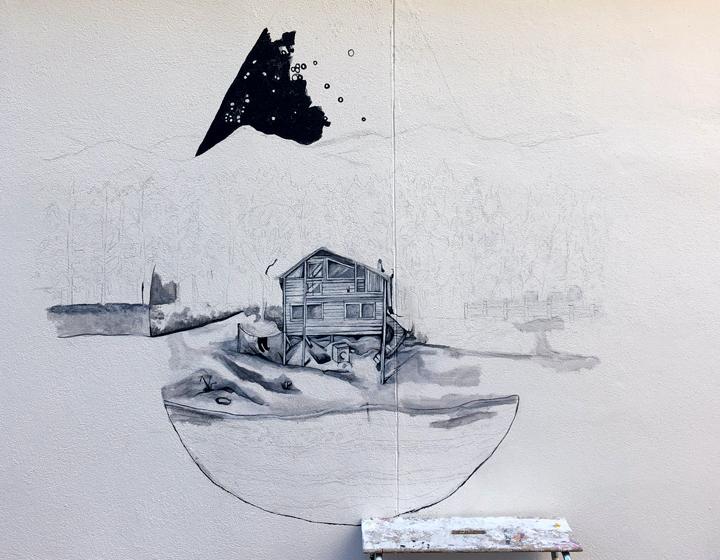 Väggmålning på Magasinsgatan utmanar gränser