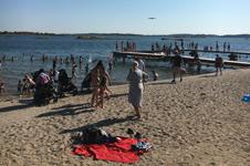 Högt tryck på parkeringarna vid Göteborgs badplatser