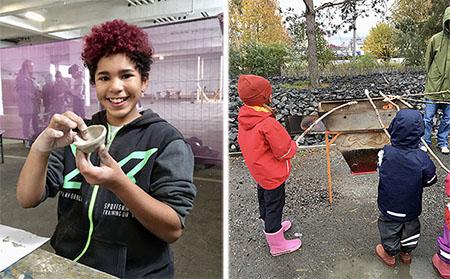 Jubileumsparken ordnar flera aktiviteter under sportlovet, till exempel keramikworkshop och grillning. Foto: Jubileumsparken