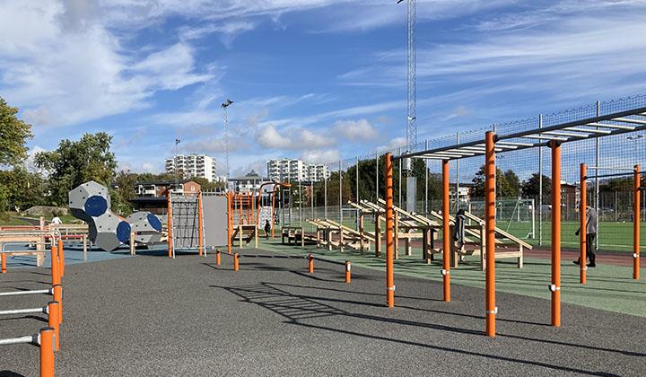 Aktivitetsyta vid Blidvädersgatan i Biskopsgården